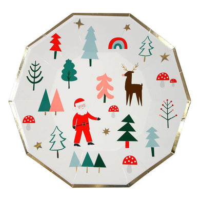 Get your tables party ready with our colourful Christmas Icons plates. Bright and cheerful with gorgeous gold foil borders.   Large Pack of 8 Neon print & gold foil detail Size: 9 inches