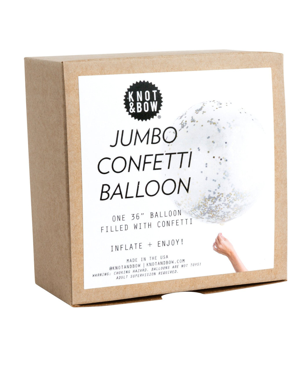 Jumbo Confetti Metallic Balloon