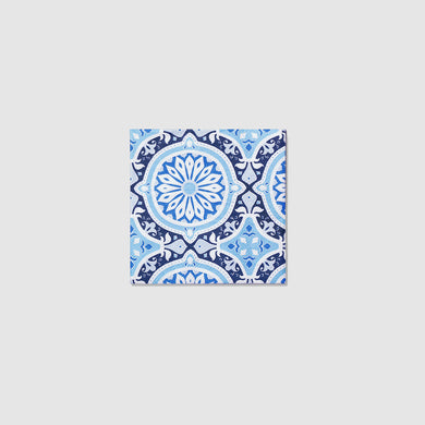 Inspired by Italian tiles, perfect for your next event. These ornately patterned napkins are a modern crowd-pleaser with old-world flair. Includes 25 napkins.  5