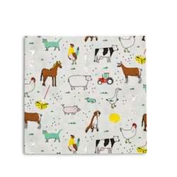 All the farm feelings! featuring silver foil elements, these napkins make us want to party until the cows come home!  illustrated by lindsey balbierz for daydream society package contains 16 paper napkins each napkin measures approximately 6.5 inches folded not safe for microwave use