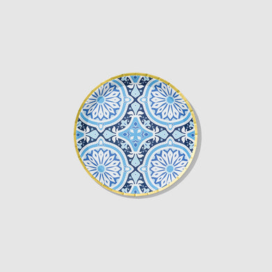 Inspired by Italian tiles, these decorative plates are an easy way to create a vibrant tablescape. Let them take center stage, or pair them with other patterns for an eclectic vibe. Includes 10 plates.  7.25