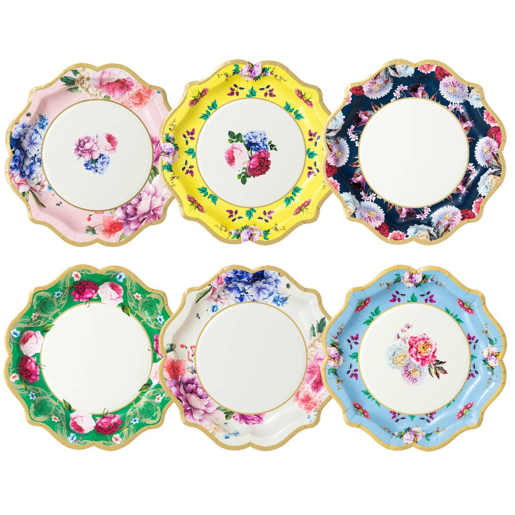 Truly elegant pretty floral plates. Perfect for every occasion!  Each pack contains 12 paper plates in 6 different designs  Approx. 8