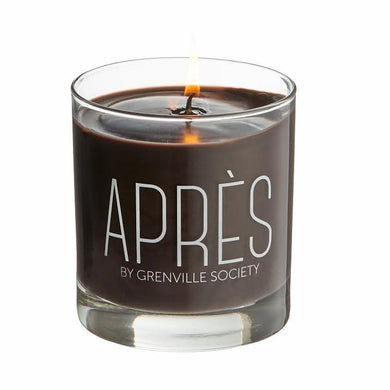 Scent: Maraschino, Cinnamon Leaf, Dried Tobacco, and Mulled Wine wrapped in cable knits.   It doesn't matter if you are celebrating APRÈS ski on the pristine snow-covered slopes, or APRÈS family gathering at your now slightly disheveled home, the holidays are here! Find some time to unwind. Grab your cashmere cable knits, and your mulling spices, strike up Bing Crosby on the stereo and a match for your APRÈS candle.   9oz.  Soy Blend  50 Hour Burn Time  Made in the USA.