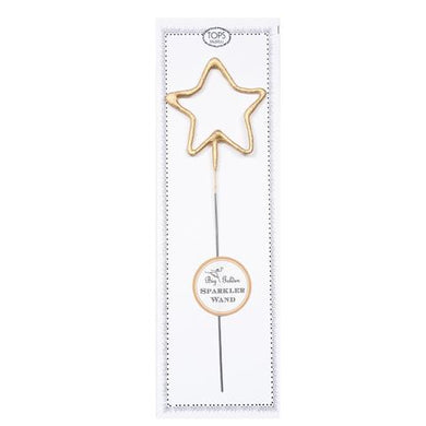 Big Golden Star Sparkler Candle Wand! From birthdays to graduation parties, anniversaries to New Year's Eve, celebrate any occasion with a shower of sparks. Add sparkle cards to a cake or any special dessert to celebrate birthdays, anniversaries, or any occasion. Great for gifts, wrapping embellishments, or party decor.  8
