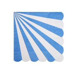Blue Fan Stripe Napkin (small) by meri meri  9781534001213