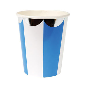 Blue Fan Stripe Party Cups by meri meri  9781534001206