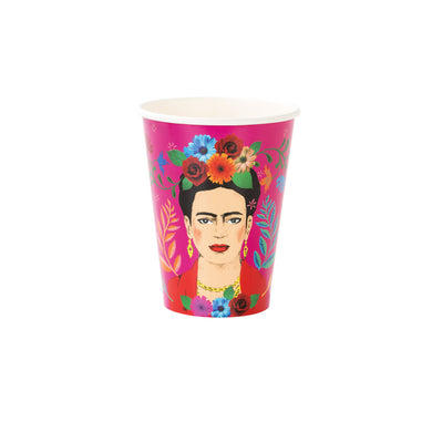 Complete the boho inspired looks of your party with these beautiful cups. Each pack contains 12 paper cups with 2 different designs.  Size: L, Volume: 12oz (340ml).  (The image on our product has been created by our in-house designer and is an original Talking Tables asset)