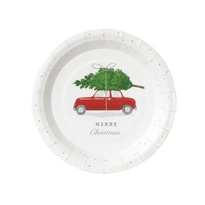 What better way to celebrate the holidays than with these adorable botanical car and tree plates! We all love the hunt for the perfect tree to bring home!  7 inches