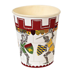 Does your little one dream of donning a suit of armour, battling ferocious dragons and storming the ramparts of enemy castles? Then they're going to be thrilled when they see our Brave Knights party collection! These party cups feature a fantasy castle, decorated with painted shield motifs and a row of knights in battle.   Pack of 12 Suitable for hot & cold drinks Size: 8 oz.