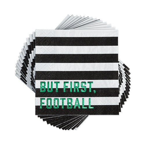 Are you ready for some football!! These napkins pair perfectly with our helmet plates and eat drink football. Perfect for any party or tailgate!