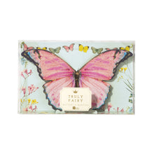 Complete your party decorations with this quaint butterfly bunting for your fairytale birthday!  These butterflies are featured with double wings to create a delicate fluttering effect. Our gorgeous butterflies come in 3 different designs and feature on 3 metres of bunting. Ideal for adorning your mantelpiece or windowsill, or to fill a space in your party in need of a little extra fairytale magic!   Complete the look of your fairy party with our Truly Fairy range, featuring napkins, paper cups and plates.