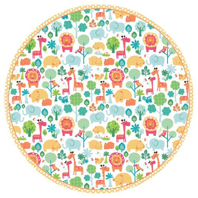 Celebrate your special day with Calico Zoo!  Pack of eight 8-inch paper salad/dessert plates Made of extra-sturdy paper printed with non-toxic, water-soluble dyes Beautiful decorative designed paper plate Disposability reduces clean-up time so you can enjoy more time with friends and family Made in the usa using environmentally-conscious raw materials