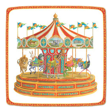 From birthday parties at the zoo or home, celebrate any occasion with these fun and delightful carousel plates!  Each durable paper plate is printed in the USA. Made using water based dyes and high-quality paper board. 8 Paper Plates per Pack 7.25