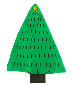 "The Christmas tree napkins are are a perfect addition to your holiday table!  Twenty-five 4½ × 8"" tree shaped napkins"