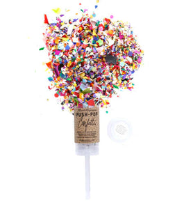Dazzle the world in confetti with the original Push-Pop Confetti! Simply serve it like a volleyball, and experience our colorful, hand-mixed confetti as it floats down around you! It makes for the best photos and videos.