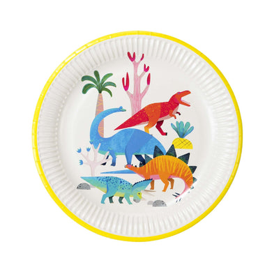 Chomp like a dinosaur & be eco-friendly with these mega-saurus plates; made with 100% recyclable paper. Each pack contains 8 paper plates, perfect for a little one's dino party.