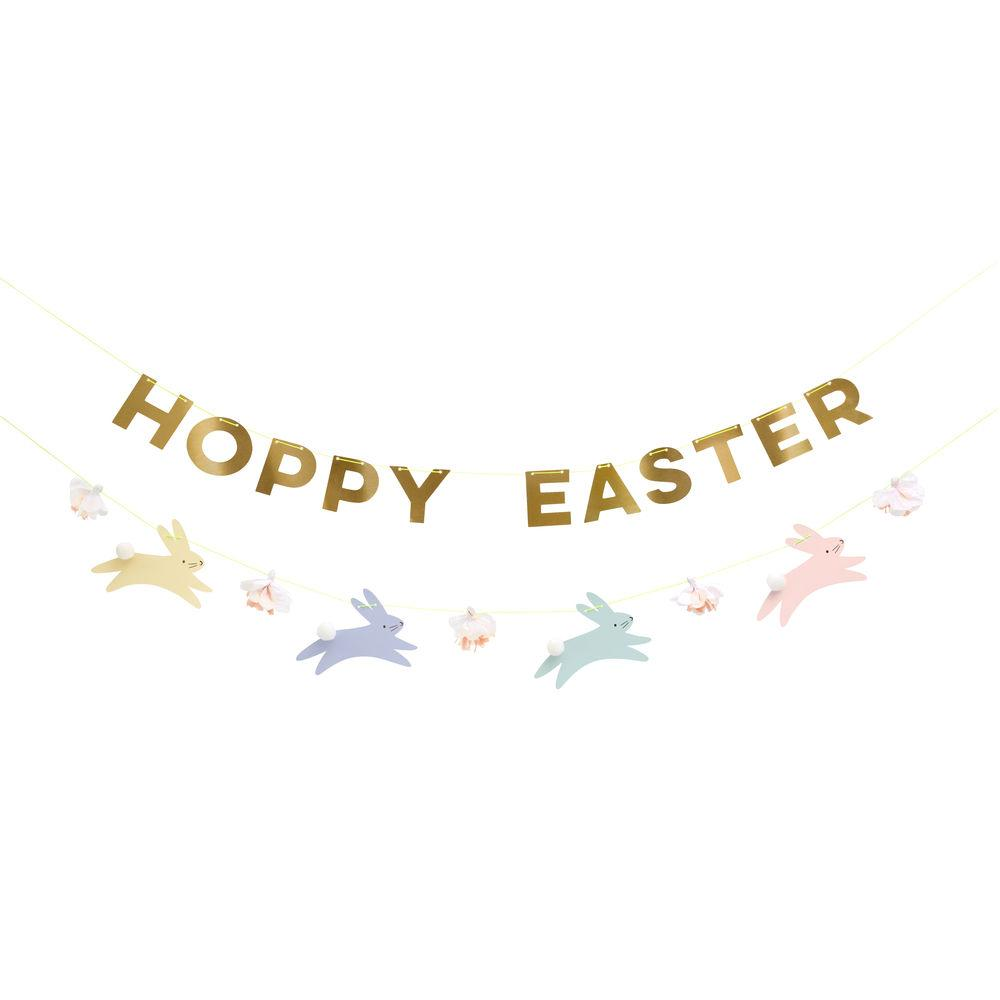 This gorgeous garland will add a special touch to Easter celebrations. It spells out the greeting 'Hoppy Easter