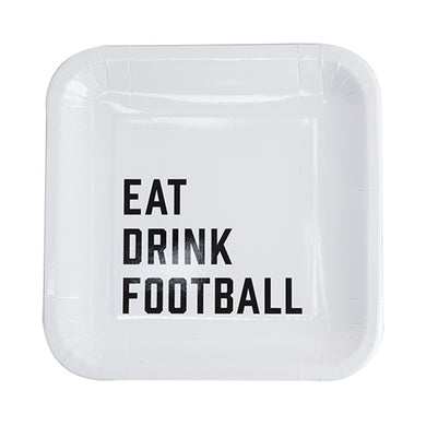 Eat Drink Football Appetizer Plate