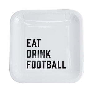 Eat Drink Football Appetizer Plate by cakewalk  842094171941