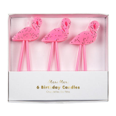 Is it really a celebration at all if no one leans over the cake and blows out the candles? Add a little extra touch of fun to your party with this adorable set of six pink flamingo candles, complete with gangly pink legs and glitter detail - the perfect addition to any tropical party!   Pack of 6 Pink legs & glitter detail
