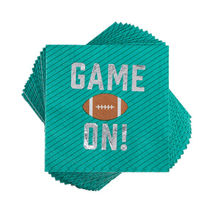 Game On Appetizer Napkin by cakewalk  842094171347