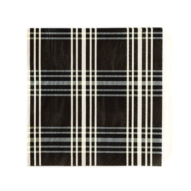 A classic staple, this black plaid cocktail napkin will combine with most any plates for a splendid tablescape. Your impeccable taste will show when your guests dab their mouth with this beautiful cocktail napkin.  • 5