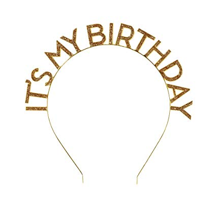 It's your day to shine! Shout about your birthday with this eye-catching gold ceramic 'It's My Birthday' headband.