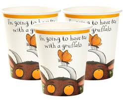 Our Terribly Thirsty Party Cups are part of our Gruffalo themed range and are perfect for a little monster's birthday party. Have your dinner with the Gruffalo!   The fantastically fun design features the friendly Gruffalo along with a couple of his friends, perfect in combination with our Rumbling Tummy Gruffalo Plates for perfect partyware that shares the wit of the story book.   Sit down and watch the Gruffalo movie with the little ones with these perfect Gruffalo additions!   Contains: 12 paper cups  Vo