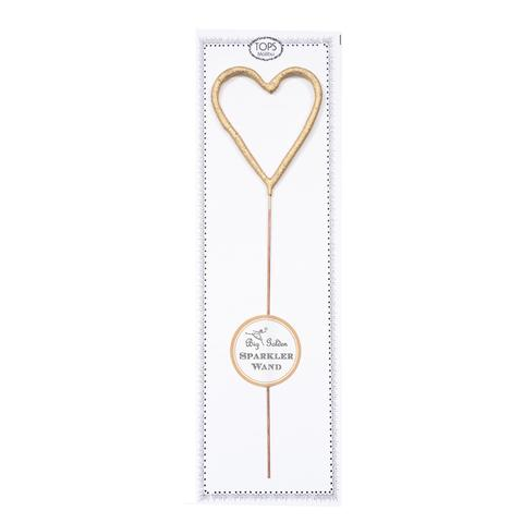 Big Golden Heart Sparkler Wand! Great for gifts, wrapping embellishments, and party decor. Such a fun gift! Add to a cake or any special dessert to celebrate birthdays, anniversaries, or any occasion.   The perfect wedding accessory!  Size 8