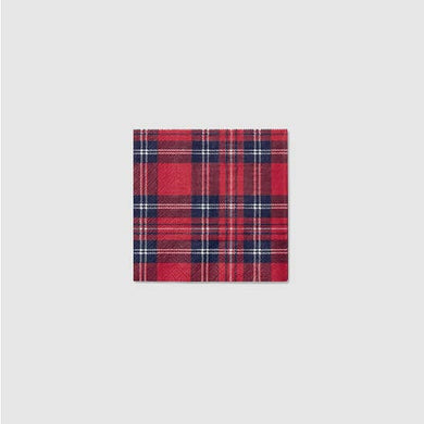 Holiday Plaid Cocktail Napkins