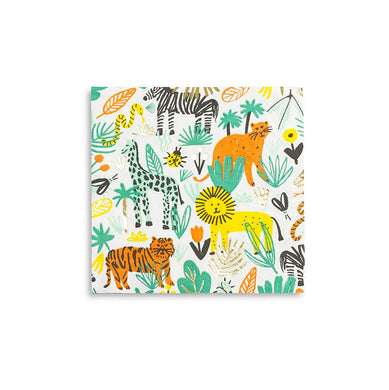 Party animals! featuring fun colors and gold foil-pressed elements, these napkins are where the wild things are!  illustrated by jordan sondler for daydream society package contains 16 paper napkins each napkin measures approximately 6.5 inches folded not safe for microwave use