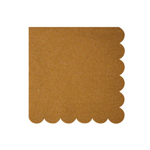 Kraft Scallop Edge Napkins (small) by meri meri  9781633254008
