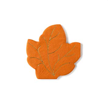 Fall is in the air and on your table this Harvest season. Beautiful gold foiled veins on these die-cut leaf shaped napkins make the perfect accents for Friendsgiving or Thanksgiving dinner parties.  • 5