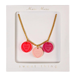Love Hearts Necklace by Meri Meri  9781633259805