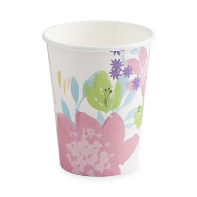 These floral party cups make a bouquet out of any beverage. 8 Paper cups Holds 9 oz