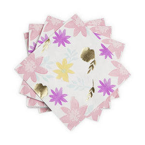 "Take the guesswork out of party place settings with our mix and match themed collections of paper supplies. Beautifully designed, these napkins are sure to add a unique splash to any party. 20 Napkins 6.5"" square"