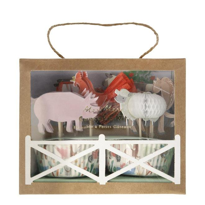 Children just love the fun of the farm - all those amazing animals to marvel at! So, a farmyard birthday theme is just perfect for little people. Themed toppers with 24 coordinating cupcake cases Tassel, honeycomb & silver foil detail Pack of 24 in 6 designs