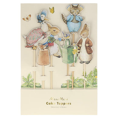Transform cakes into sensational looking treats with these wonderful Peter Rabbit and friends' cake toppers. They'll really delight your guests! Perfect for birthday parties, baby showers or any occasion where you want the most amazing cakes on display.  6 cake toppers per pack