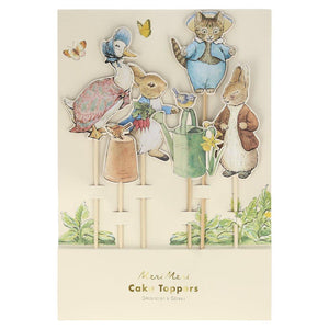 Peter Rabbit & Friends Cake Toppers by Meri Meri  9781534029712