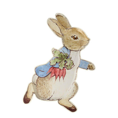 Your guests will delight in eating from these very special Peter Rabbit plates. Perfect for an Easter party, a baby shower or any time you want charming tableware to brighten up your celebration.   Die cut Pack of 12 Product dimensions: 9 x 12 inches
