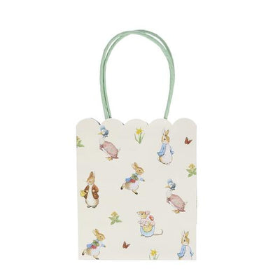 Though Peter Rabbit is now well over 100 years old, Beatrix Potter's charming creation is as beloved as ever, making him and his friends the perfect special guests for any celebration. That's why they feature on these wonderful party bags.  sixe 5 3/4