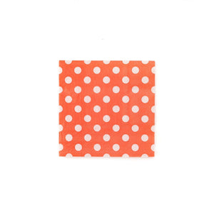 "If you are planning an afternoon tea you're going to need napkins for your soiree! And these garden party napkins are the perfect addition to your soiree. With dainty dots, these bright coral decorative napkins will be right at home in your garden.  These simple yet elegant napkins are the ideal companions for cupcakes at your princess birthday party. If you are planning a bridal brunch, pair these polka dot napkins with our 7"" garden party floral plates for a stylish way to serve your soiree's goodies.  •"