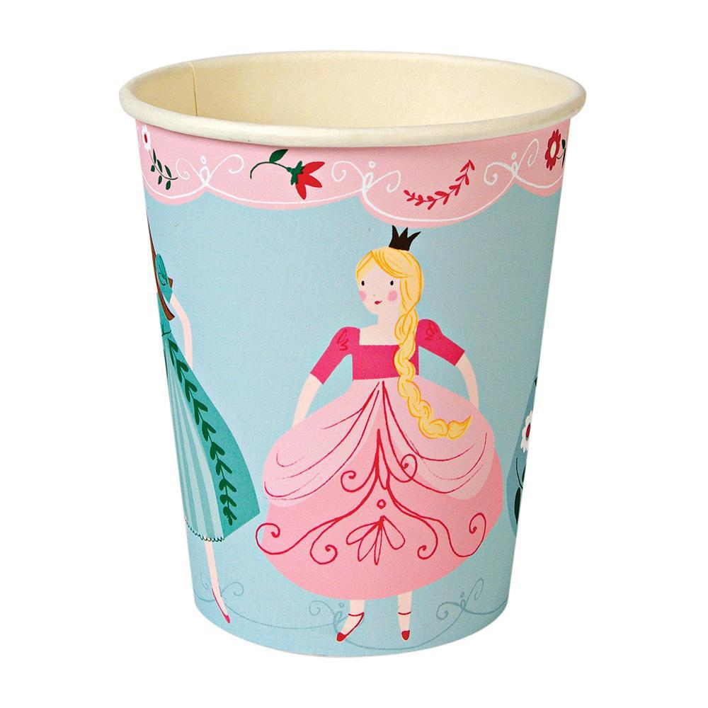 Pretty much every little girl dreams of being a princess at one point in her life, and if your daughter is a fan of tiaras, big swirling skirts and everything pink, then our I'm A Princess party collection is a must for her birthday! These party cups come decorated with a row of pretty princesses in flowing dresses.   Pack of 12 Suitable for hot & cold drinks Size: 8 oz. capacity