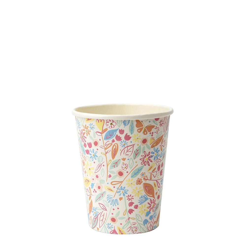These pretty cups are perfect to serve delicious drinks in.   Suitable for hot & cold drinks Neon print & gold foil detail Pack of 8 Cup capacity approx: 9 fl. oz.