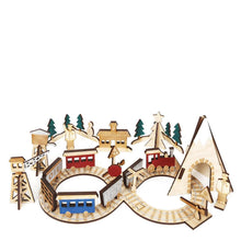 Count down to Christmas with this sweet railway advent calendar, featuring 24 beautiful wooden pieces and a keepsake bag.  Pack of 24 decorative wooden pieces behind 24 windows Themed box wth drawstring keepsake bag Gold foil detail