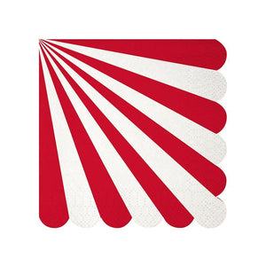 Red Stripe Napkins (small) by meri meri  9781625687494