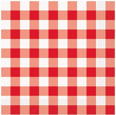 Few patterns capture the spirit of summer like red-and-white gingham. Calling to mind picnics in the park, these cocktail napkins are great for any type of outdoor entertaining.  5