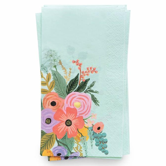 Equal parts decorative and functional, our guest napkins add a pop of color and pattern to your party's place settings.  8