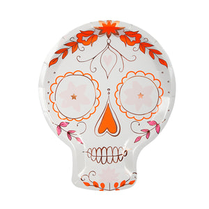 Celebrate the Day of the Dead in style, or bring a little bit of extra colour to Halloween, with our beautiful Sugar Skull collection. Large Pack of 8 Die-cut Neon print & rose gold foil detail