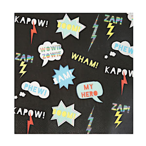Super Hero Zap! Large Napkins by Meri Meri  97816820833696